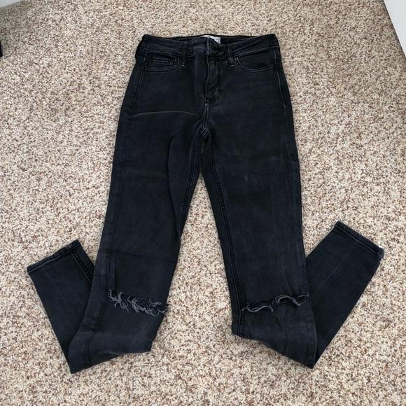 9295c00674663 Hollister Denim - Girls Classic Stretch High Rise Jeans Black